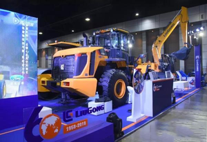 Liugong new product launch and 60th anniversary celebration shine Thailand INTERMAT ASEAN exhibition